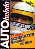 AUTO HEBDO n° 181 . Scheckter Victoire et titre ..  AUTO HEBDO n° 181 . 13 septembre 1979 .