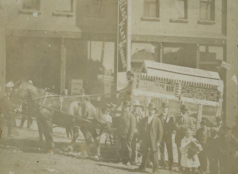 1891-1895 St-Germain's Glass Co Minnesota USA, ca 1891-1895 Old original photo.