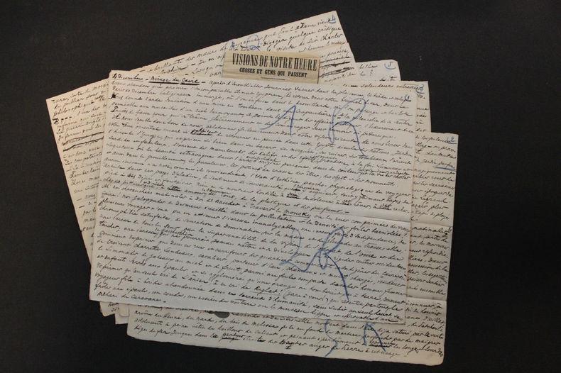 article autographe 1899 Mirage du Caire Égypte 5 p.. Octave Uzanne