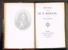 OEUVRES COMPLÈTES DE N. BOILEAU. (cinq tomes). BOILEAU N.