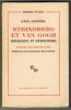 STRINDBERG et VAN GOGH. SWEDENBORG, HOLDERLIN. Traduit par Hélène NAEF et précédé d'une étude de Maurice BLANCHOT.. JASPERS Karl