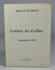 Lettres du Cellier (septembre 1939). QUENEAU Raymond