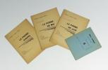 """Réunion de 4 rares plaquettes : """"Deux poèmes"""", Série Un poème chaque mois : """"Le poème de juin"""", """"Le poème d'avril"""", """"Le poème de mai"""". ALBERT-BIROT ..."""