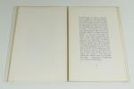 Fragments des Marginalia. Traduits et commentés par Paul Valéry.. POE Edgar - VALERY Paul