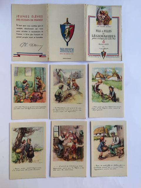 Fils et Filles de Légionnaires  pour correspondre entre vous  6 dessins inédits de poulbot Légion Française des Combattants et des Volontaires de ...