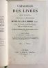Catalogue des livres imprimes et manuscrits, composant la bibliotheque de feu m. L.M.J. Duriez (de Lille) dont la vente se fera le 22 janvier 1828, et ...