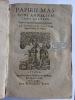 Papirii Massoni Annalium libri quatuor quibus res gestae francorum explicantur.  MASSON (Jean, Papire)