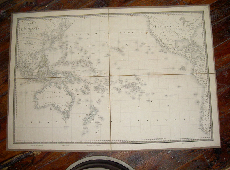 Carte de l'Océanie. Brué (A.)