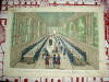 Vue perspective du réfectoire de l'Hôtel Royal des Invalides à Paris. Vue d'Optique du dix-huitième siècle