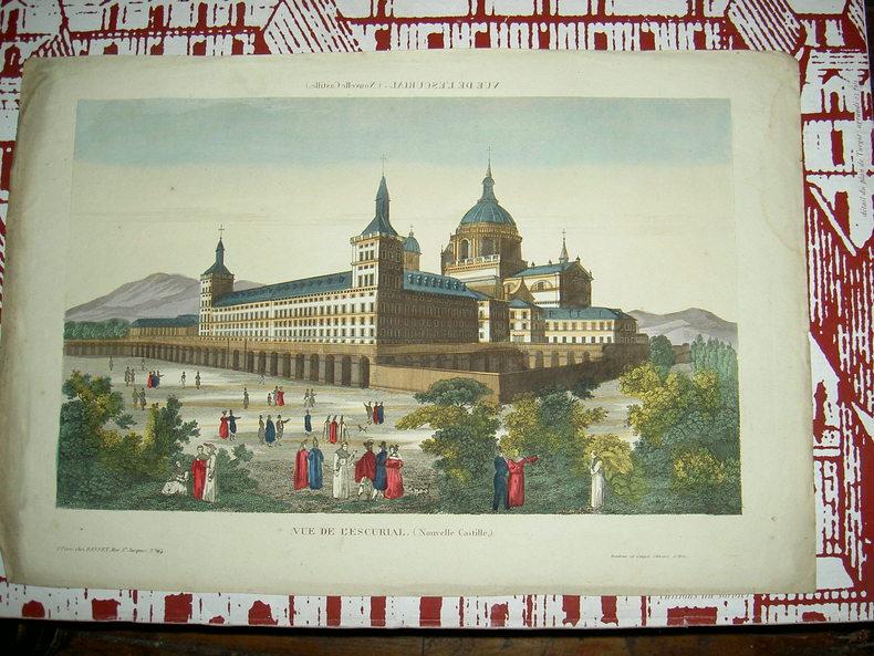 Vue de l'Escurial (Nouvelle Castille).. Vue d'Optique du dix-huitième siècle