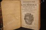 Institution de L'Aumosne Générale de Lyon. Ensemble l'œconomie et règlements qui s'observent dans l'Hôpital de Notre-Dame de la Charité, où sont les ...