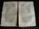 Mémoires de Louvet avec une introduction de M.E. Maron. Mémoires de Dulaure avec une introduction par M.L. de la Sicotière. Louvet. Dulaure