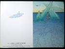Carte postale double A2 - 4 MOEBIUS Le désert au portique. Moebius