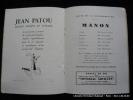 Théâtre National de l'Opéra Comique. Saison 1930-1931 Programme pour MANON de Massenet. Massenet - Brissaud Pierre (illustrateur)