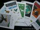 Comment s'enrhument les bêtes. Calendrier publicitaire du Laboratoire Le Brun pour la spécialité Eucalyptine. Jean EFFEL