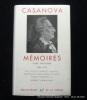 Mémoires. 3 tomes. Tome premier 1725-1756. Tome deuxième 1756-1763. Tome troisième 1763-1774.. Casanova. Texte établi avec une chronologie de la vie ...