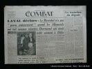 Combat De la Résistance à la Révolution. 5e année n°364 Dimanche 5 août 1945.  La tentation du dégoût  par Georges Bernanos.. Collectif. Directeur ...
