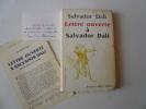 Lettre ouverte à Salvador Dali. Avec 33 dessins de l'auteur.. DALI Salvador