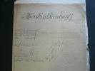 Sarah Bernhardt. Documents originaux relatifs à un contentieux (1888-1900) opposant Sarah Bernhardt à un fournisseur de tissus (Dieutegard & Doizey). ...