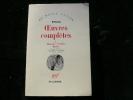 Oeuvres complètes I. Romans - Poésies - Essais.. Novalis. Edition établie, traduite et présentée par Armel Guerne