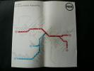 Réunion de 10 dépliants de la RATP, comprenant : 6 plans de réseau d'autobus et de métro de 1976, 1977, 1979, 1980, 1981 / Un dépliant 1979 sur les ...