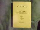 Oeuvres complètes tome 2. Colette