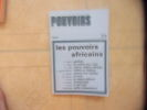Pouvoirs n° 25- les pouvoirs africains. Collectif