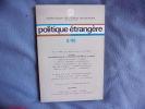 Politique étrangère 2/85. Collectif