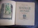 Nostalgie de Paris. Francis Carco
