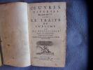 Oeuvres diverses avec le traité du sublime ou du merveilleux. Boileau Despréaux