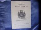 Cahiers Saint-Simon. Collectif