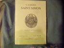 Cahiers Saint-Simon.