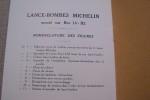 LANCE-BOMBES MICHELIN sur avion Breguet 14-B2..