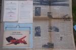 AVIATION RUSSE: 1er Salon Aéronautique International 1911 à St-Petersbourg (10-23 Avril) Moscou (5-25 Mai) Une brochure de 18 pages, 2 dépliants, ...