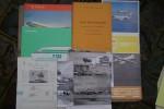 AVIATION CIVILE: SUD-AVIATION: Dossier de 9 fiches descriptives et 13 photos. AIRBUS A300B Catalogue 8 pages. AVIONS Marcel DASSAULT: FAN JET FALCON ...