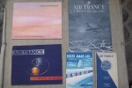 AIR FRANCE: Tests dans les nuages, jeux de Jack SANGER, 1957, dessins de BEUVILLE, SEMPE, POUZET, MOLES. Indicateur général Printemps-Eté 1936. ...