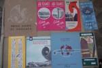 AIR FRANCE: Indicateur de Paris Février 1950. Le plus grand réseau du monde, 1956. Conseils passagers, 1956. Encyclopédie par l'image, Hachette, 1963. ...