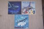 AIR FRANCE: Dépliants couleurs avec écorché: LE DOUGLAS D.C4 (1948), Lockheed Constellation (1948), LANGUEDOC (1947). .