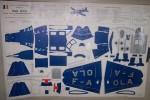"""SIMOUN """"AIR BLEU"""" Avion Postal CAUDRON-RENAULT C.635. Découpage """"LE MODELE EXACT"""" Planche N° 7.."""