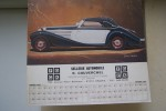 "CARROSSERIES AUTOMOBILES: Calendrier. MERCEDES 540 K 1936. DUESENBERG SJ 1936. CHRYSLER ""LE BARON"" 1931. DELAGE D6 1938. LANCIA ASTURA 1933. BUGATTI ..."
