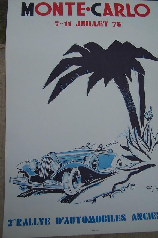 MONTE-CARLO 7-11 Juillet 76: 2ème Rallye d'Automobiles Anciennes.. Geo HAM