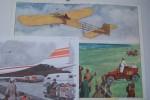 AFFICHE SCOLAIRE: CONCORDE, Editions M.D.I. 1970. Format 62x51 cm. Blériot traverse la Manche en avion, Montmorillon, Editions Rossignol Format 74x56 ...