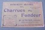Instruments Aratoires. Charrues Fondeur. LETROTEUR..