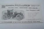 """Automobiles FOUILLARON 1905: Type """"Populaire"""", Coupé à conduite de l'intérieur.."""