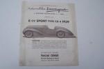 Les Automobiles Danvignes: 6 CV Sport type CD 4 1939 .