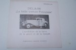 """DELAGE """"La belle voiture Française"""". Februari 1934. Importateur: A.I. Monsantofils à Scheveningen.."""