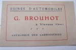 Catalogue des carrosseries G. BROUHOT à Vierzon..