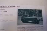 La nouvelle 11 CV Six cylindres MOTOBLOC à Bordeaux 1930..