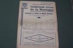 Programme Course de Côte du Mont-Faron. Dimanche 13 Mai 1934..