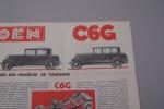 CITROEN C4G et C6G Modèles 1932..